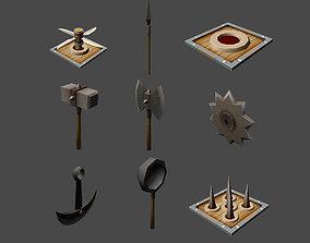 3D asset Dungeon Traps