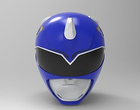 mighty Blue Ranger Helmet from MMPR for 3D Printing