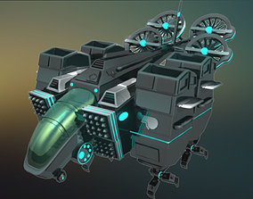 3D sc-fi The Bulk Space Ship