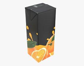 3D Juice 1000ml cardboard box packaging