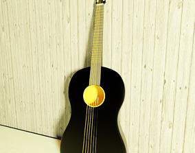 3D asset Simple acoustic guitar model