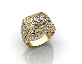 3D print model DIAMOND RING OR WEDDING BAND FOR MEN IN 1