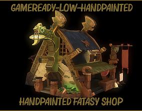 3D model Stylized Fantasy Shop Lowpoly Handpainted