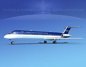 3D Douglas DC-9-40 Air Charter Intl