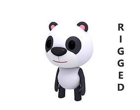 Rigged Panda 3D