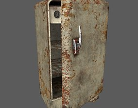 Old refrigerator 3D asset low-poly