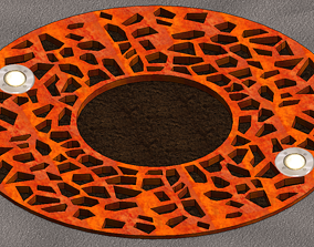 Round Tree Grate light 3D