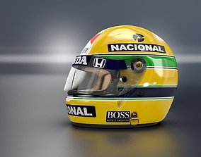 3D 1988 Ayrton Senna Championschip Race Helmet