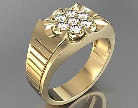 Ring for man Flow 4 sizes 3D printable model