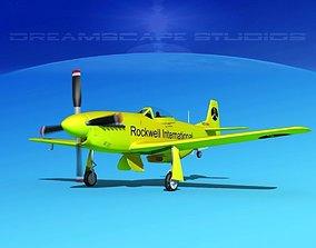 3D model P-51 Mustang Sport Ole Yeller