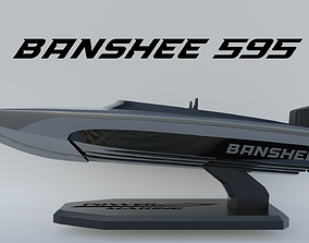 Power Marine Banshee 595 3D Print powerboat