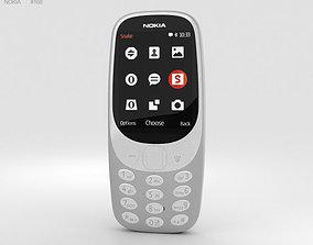 3D model Nokia 3310 2017 Grey