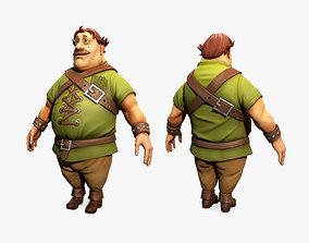 3D model Cartoon Medieval Man