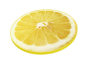 Lemon round slice 3D model