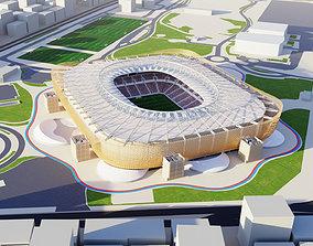 Al Rayyan Stadium fifa world cup 2022 qatar 3D