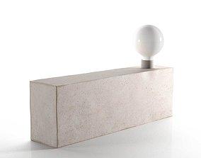 3D Modern Raw Concrete Lamp