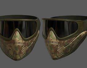 Mask helmet protection scifi military futuristic 3D model