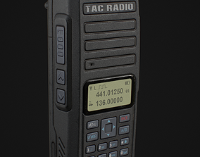 3D asset Military Walkie Talkie