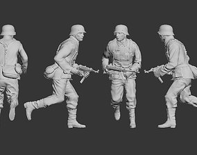 German soldier machine 3D print model