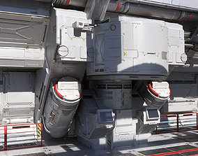 3D model sci-Fi-Hall textured CLEAN FULL EDITION PACK