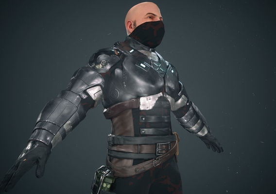Sci Fi Solider Character