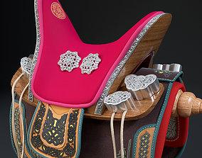 3D Mongolian nomadic saddle - Emeel