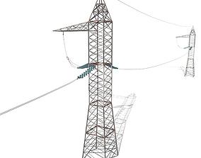 Electricity Pole 17 3D model