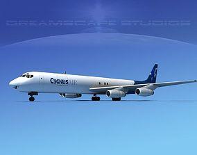 Douglas DC-8-63F Cygnus Air 3D model