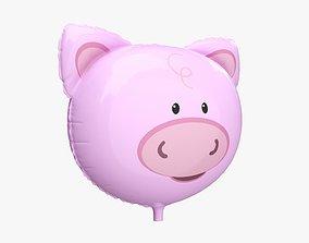 3D Foil decoration balloon 03 Pig