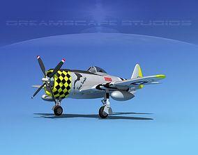 3D Republic P-47D Thunderbolt V07