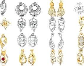 38 Women earrings 3dm render detail