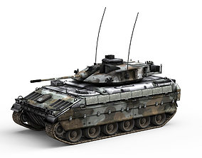 3D model game-ready Armored Personnel Carrier