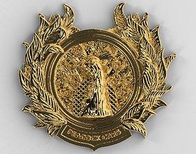 Peacock Emblem - Nation Bird Of India 3D print model