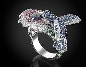 The Hummingbird Ring 3D printable model