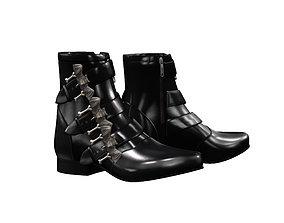 Bat Buckle Boots 3D model