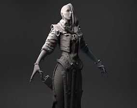Fantasy Female Character A-pose 3D model