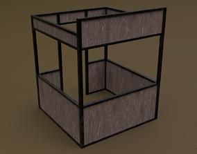 3D asset Stall stand 04 R