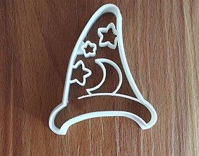 3D print model Wizard hat cookie cutter