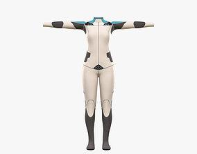 Pilot Girl Cloth 3D asset
