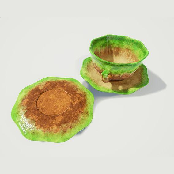 Green Glazed Teacup