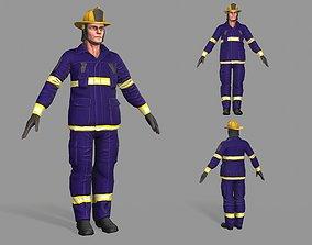 Firefighter Man 3D model