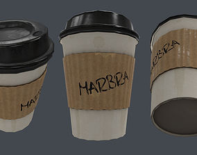 Coffee Cup Prop PBR Game ready 3D model