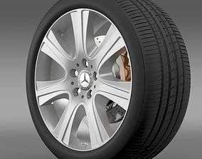 3D Mercedes Benz S 600 guard wheel