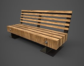 3D model Park bench - PBR - lowpoly