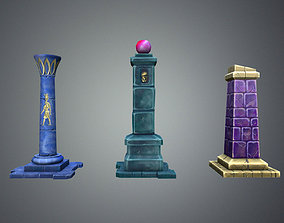 3D model Fantasy Pillar Collection