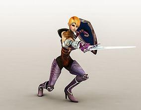 3D model Fantasy Warrior Girl 1