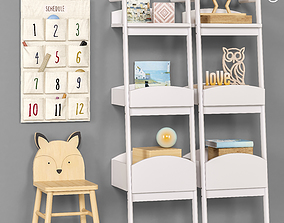 3D model Toys and furniture set 52