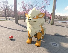 3D asset Arcanine Pokemon
