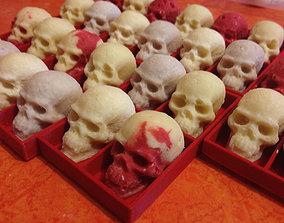 chocolate skull mold macker 3D printable model
