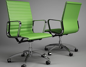 Office chair set 3D